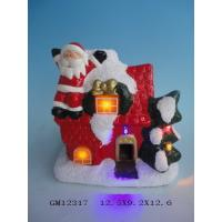 Quality Lighted Porcelain Ceramic Christmas Village Houses For Family Decoration for sale