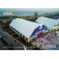 Quality Beer Festival Outdoor Event Tent With Colorful Lining 40M X 50M Resist 100km / h Wind for sale