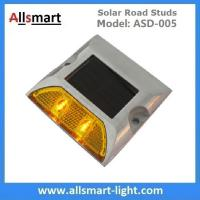 Quality Solar Road Stud ASD-005 Single Line 2leds Square Shape Solar Traffic Warning Lights Solar Road Reflecting Markers for sale