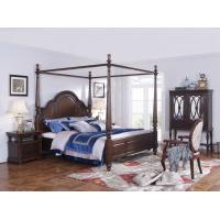 Quality Palatial Villa House Bedroom Furniture set Classic Wooden King size Bed with Grand Night table with Decoration display for sale