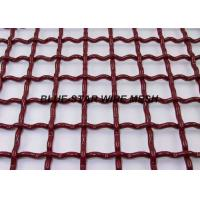 China EpoxyPainted Crimped Mining Screen Mesh Sheet High Tensile For Vibrating Machine on sale