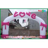 Quality Oxford Cloth Inflatable Wedding Arch / Inflatable Heart Shape Archway For Promotion for sale
