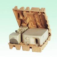 Quality Dry Press Pulp Paper ProductsFor Industrial Packaging , Pulp Molded Packaging for sale
