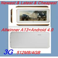 China 7 inch Google Android 4.0 tablet pc Allwinner A13 Cortex a8 1.5G on sale