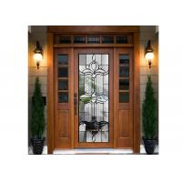 Quality Door Embroidered Beveled Clear Art Glass Sheets ,  Decorative Panel Glass for sale
