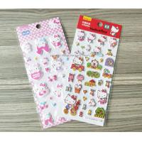 Quality Decorative Custom Puffy Stickers , Lovely Hello Kitty Cartoon Kids Foam Stickers for sale