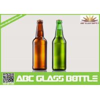 Quality Fancy Summer Promotion With Screw Top Beer Glass Bottles,Amber and Green beer glass bottle for sale