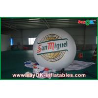 Quality Advertising White 2M Inflatable Balloon Helium Blimp Balloon 0.18mm PVC for sale