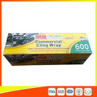 Quality Commercial Wrapping Catering Cling Film 45cm Roll / Cooking Film Wrap For Kitchen for sale