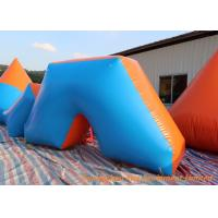Quality Hot Air Welding Inflatable Sport Games , 0.6mm Plato PVC Blow Up Bunkers for sale