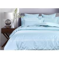 Quality Simple Embroidered Twin Size Bedding Sets 100% Cotton 4 Pcs For Home / Hotel for sale
