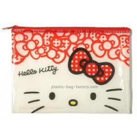 Quality Hello Kitty Reusable Ziplock Bags Red Vinyl 20*12.5CM For Girls Collecting Money for sale
