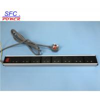 Buy cheap Standard Ground 8 UK Outlet aluminum alloy shell Power Bar,European Power Strip Exterier Earth Wire from wholesalers