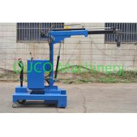 Quality Electric Industry Floor Telescopic Boom Crane Movable For Lifting / Unloading for sale