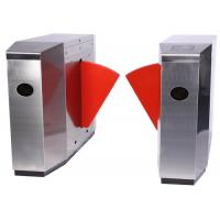 Quality 304 Stainless Steel Automatic Systems Turnstiles , Pedestrian Automatic Flap Barrier for sale