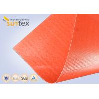 China Silicone Coated Bulk Fiberglass Cloth Roll Resistant High Temperature Up To 1000 C Degree on sale