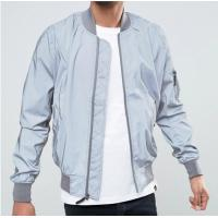 Quality Fashion Blank Ma1 Flight 3M Reflective Bomber Jacket Slim Fit For Autumn for sale