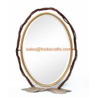 Quality China Factory Metal Frame Decorative Standing  Mirror for Living Room Wholesale for sale