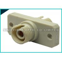 Quality Square Flanged Beige FC to FC Fiber Optic Adapter 500 Mating Durability for sale