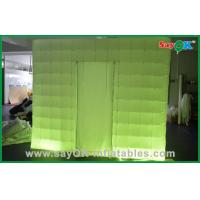 Quality Custom Made Portable Inflatable Led Photo Booth in Oxford Cloth , Green / Purple for sale
