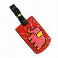 Quality Promotional Luggage Tag, Made of Silicone, Eco-friendly, Comes in Various Designs/Sizes/Logos/Colors for sale