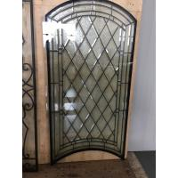Quality Decorative bevel glass for wooden doors with  glue chip glass beveled for sale