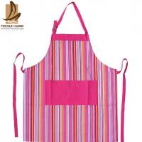 Quality Pretty Blue/Pink Striped Cotton Kitchen Apron Personalised Cooking Aprons for sale