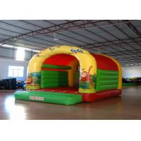 Quality Forest animals theme inflatable bouncers /  inflatable bouncer with roof for sale