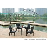 Quality 2014  pe rattan wicker coffee one table four chair outdoor sets for sale