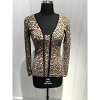 Quality Customized Design Women'S Leopard Print Sweater Natural Material 15JT 004 for sale