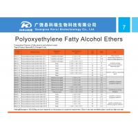 Quality polyoxyethylene fatty alcohol ethers for sale
