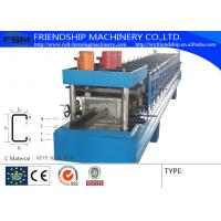 China Cold / Hot Steel C Purlin Roll Forming Machine By Chain Transmission on sale