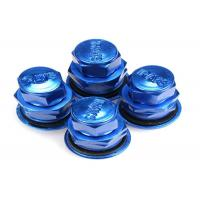 Quality Blue Colored Valve Stem Caps / Tire Air Valve Cap Rubber Metal Valve Mouth for sale