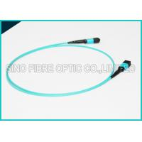 Buy cheap 100Gbps 24 Cores MPO Fiber Optic Cable OM4 Non-pinned Fibre Optical Plenum from wholesalers