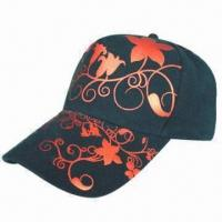 Buy cheap Promotional Baseball Cap, Made of Cotton, with Printed Logo, Different Colors are Available from wholesalers
