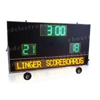 Quality 2 Teams Wireless Baseball Scoreboard , Portable Digital Scoreboard With Wheels for sale