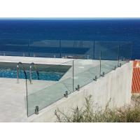 Quality Frameless Mirror Polished Spigot Laminated / Tempered Glass Railing with Spigot for sale