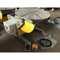 Quality 1200 Capacity Tilting Rotary Welding Positioner With Hand Control And Foot Pedal Control for sale