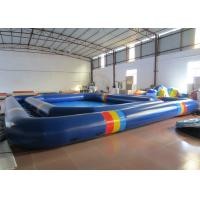 Quality Attractive Inflatable Water Games Giant Outdoor Inflatable Pool 8 * 8 * 0.2m  0.9mm Pvc Tarpaulin for sale