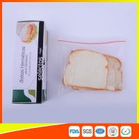 Quality OEM Zipper Top Plastic Sandwich Bags Biodegradable For Fresh Keeping for sale