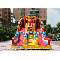 Quality Commercial Large Inflatable Games Clown Dry Slide Combo Bouncy House for sale
