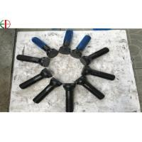 M36x3x154mm 40Cr Forged Double Threaded Black Bolts and OD70mm Shell Plates for Cement Plant and Powder Station EB649 for sale