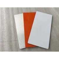 Quality Easy Processing Aluminum Sign Panels , Glossy / Matt White ACM Sign Material  for sale