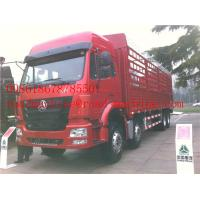 China SINOTRUK HOWO 8x4 Heavy Cargo Trucks / Diesel Box Stake Truck , STRONGEST TRACTOR on sale