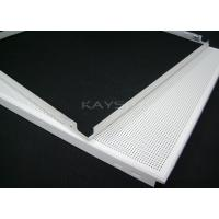 China Soundproof Ceiling Tiles , decorative perforated metal panels 300 × 1200mm on sale