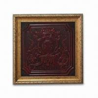 China 3-D Relievo Painting, Made of PU Leather, Suitable for Home and Business Places, Measuring 38 x 38cm on sale