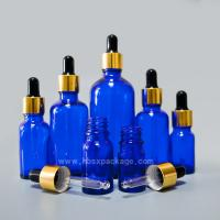 Quality China supplier 15ml Cobalt Blue Aromatherapy Essential Oil Glass Container Bottle With Dropper for sale