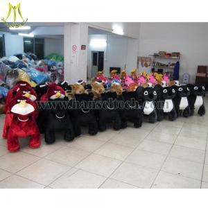 Quality Hansel plush animals motorized walking stuffed animals Shopping Mall Animal Rides for sale