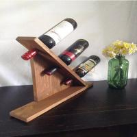 Buy MDF Countertop Display Shelves Wooden Wine Bottle Holder DIY Gift at wholesale prices