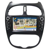 Quality Peugeot 206 GPS Navigation Car Multimedia DVD Player With Android / Windows System for sale